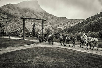 Heading Into The Mountains Art Print