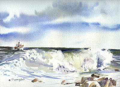 Painting - Heading Off-shore by P Anthony Visco
