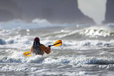 Model Released Photograph - Heading Out At The La Push Pummel by Gary Luhm