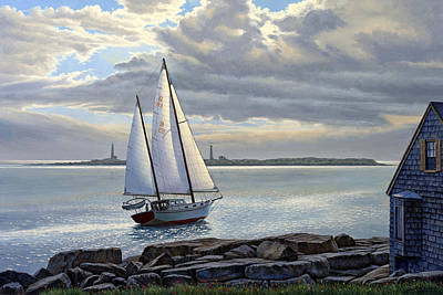 Harbor Painting - Heading Out-close Hauled     by Paul Krapf