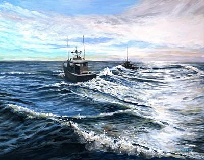 Painting - Heading Out by Eileen Patten Oliver