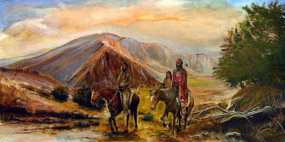 Native American Painting - Heading Out by Patrick Rahming