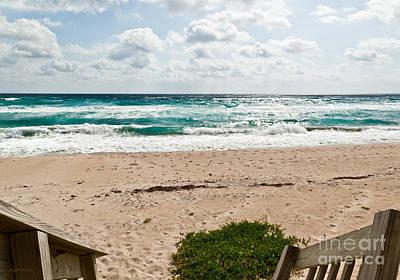 Manalapan Photograph - Heading To The Beach Manalapan Florida by Michelle Wiarda