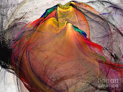 Querformat Digital Art - Headless-abstract Art by Karin Kuhlmann