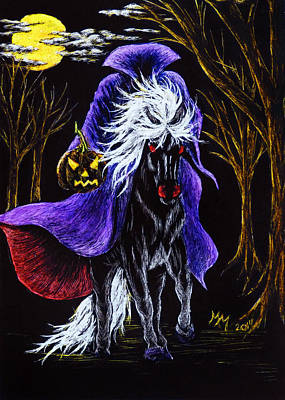 Headless Horseman Drawing - Headless Horseman by Monique Morin Matson
