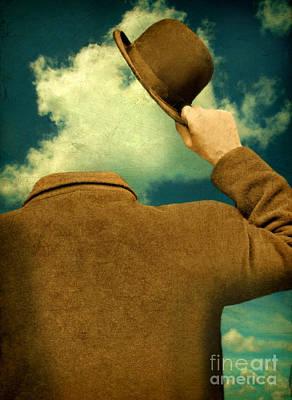 Headless Man With Bowler Hat Art Print by Jill Battaglia