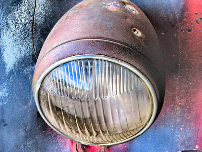 Photograph - Headlight by C H Apperson
