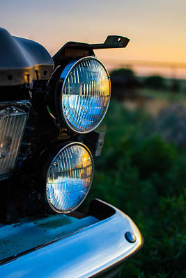 Broken Photograph - Headlights In The Sunset by Nathan Hillis