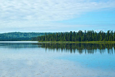 Headquarters Lake In Kenai National Wildlife Refuge In Soldotna-alaska Art Print