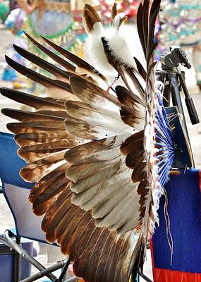 Photograph - Native American Headdress - Nanticoke Powwow by Kim Bemis
