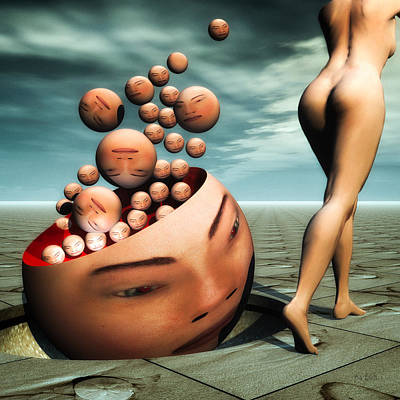 Surrealism Royalty Free Images - Heads Royalty-Free Image by Bob Orsillo
