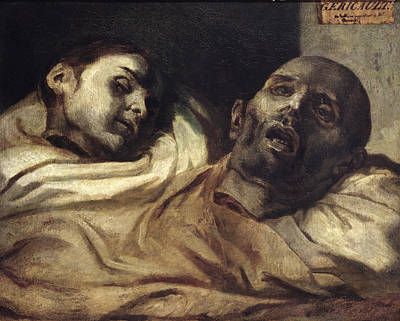 Heads Of Torture Victims, Study For The Raft Of The Medusa  Print by Theodore Gericault