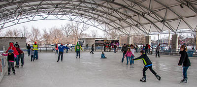 Photograph - Headwaters Park Ice Arena by Gene Sherrill