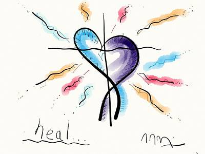 Drawing - Heal... by Jason Nicholas