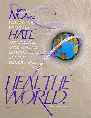 Violence Mixed Media - Heal The World by Claire Griffin