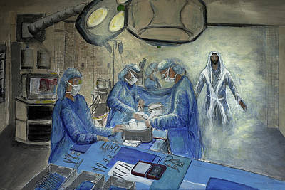 Asheville Artist Painting - Healer  by Gray  Artus