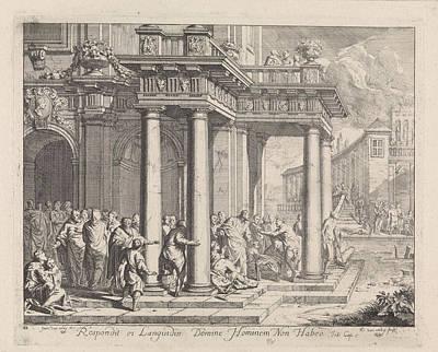 Healing Art Drawing - Healing At The Pool Of Bethesda, Richard Van Orley by Quint Lox