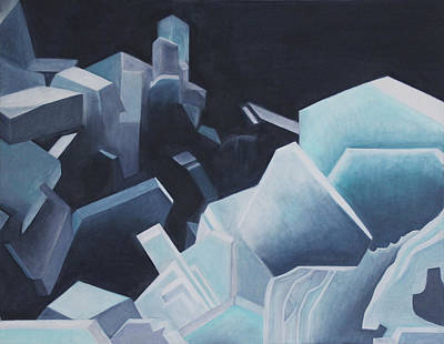 Subterranean Painting - Healing Blue Crystals by Diana Perfect