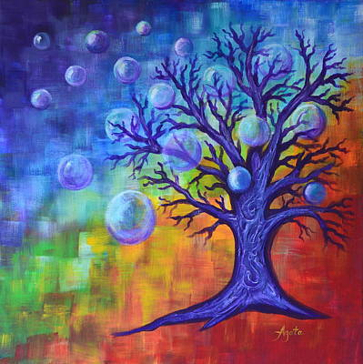 Painting - Healing Bubbles by Agata Lindquist