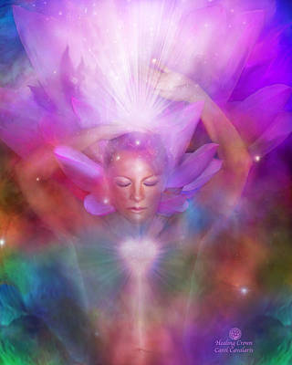 Crown Mixed Media - Healing Crown by Carol Cavalaris