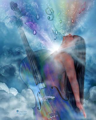 Healing Expression Art Print by Carol Cavalaris