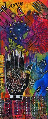 Mixed Media - Healing Hands by Angela L Walker