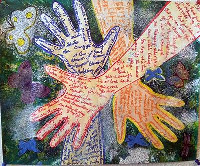 Drawing - Healing Hands by Phyllis Anne Taylor Pannet Art Studio