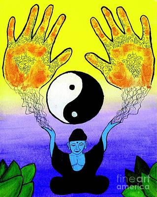 Blue Healer Mixed Media - Healing Hands by Shylee Raquel