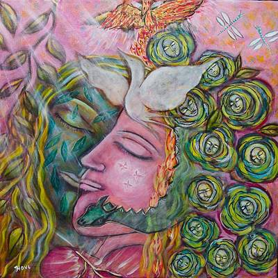 Sacred Feminine Painting - Healing by Havi Mandell