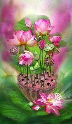 Crown Mixed Media - Healing Lotus - Crown by Carol Cavalaris