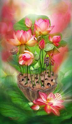 Healing Lotus - Root Art Print