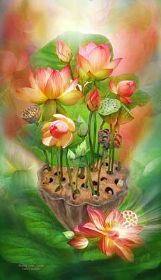 Healing Lotus - Sacral Art Print by Carol Cavalaris
