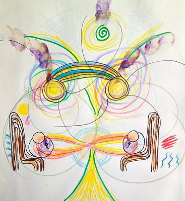 Visionary Art Drawing - Healing With You by Dawn Richerson