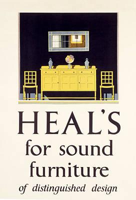 Mirror Painting - Heals Sound Furniture Advertisement by