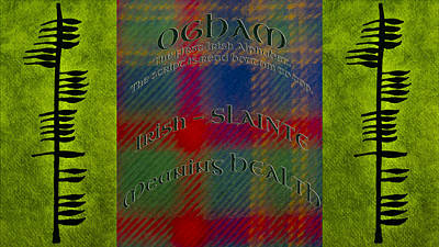 Celtic Photograph - Health -ogham Ancient Irish Alphabet Health by LeeAnn McLaneGoetz McLaneGoetzStudioLLCcom