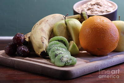 Healthy Breakfast Fruits And Cereals Art Print