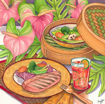 Healthy Dining Art Print by Tammy Yee
