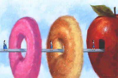 Donuts Painting - Healthy Eating by Steve Dininno