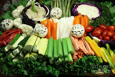 Healthy Veggie Snack Platter - 5d20688 Print by Wingsdomain Art and Photography