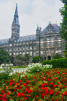 Georgetown Photograph - Healy Hall by Mitch Cat