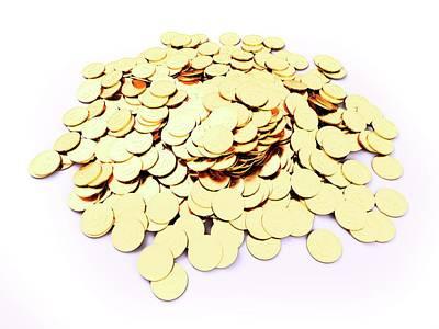 Coins Photograph - Heap Of Golden Coins by Sebastian Kaulitzki