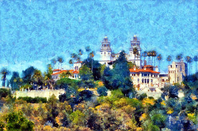 Digital Art - Hearst Castle  by Kaylee Mason