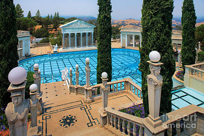 Hearst Castle Neptune Pool Print by Inge Johnsson