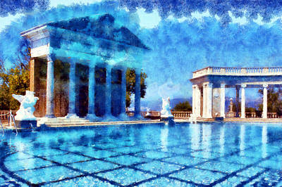 Digital Art - Hearst Castle Pool 2 by Kaylee Mason