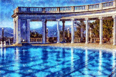 Digital Art - Hearst Castle Pool by Kaylee Mason