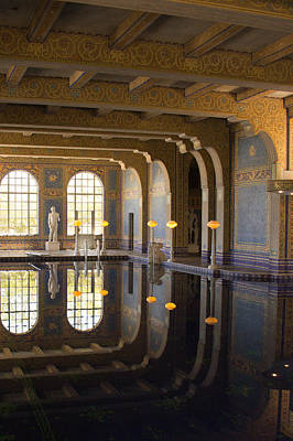 Hearst Castle Roman Pool Reflection Art Print by Heidi Smith