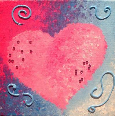 Painting - Heart 1 by Anne Gardner