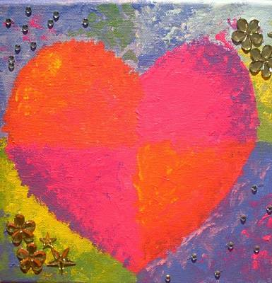 Painting - Heart 2 by Anne Gardner