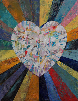 Amor Painting - Diamond Heart by Michael Creese