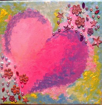 Painting - Heart 3 by Anne Gardner